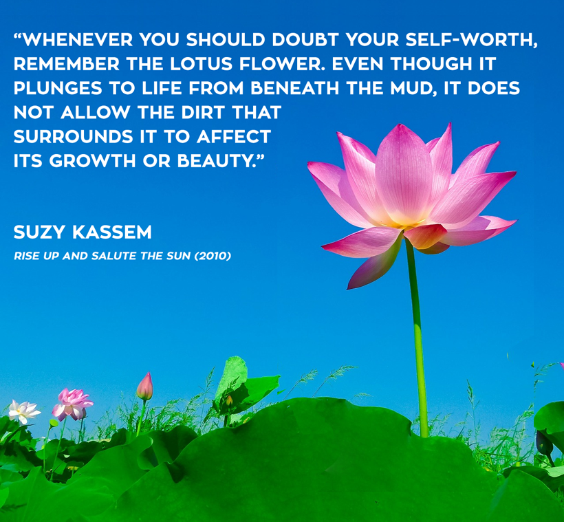 Shine on truth is crying lotus no mud no beauty book quote suzy kassem mightylinksfo