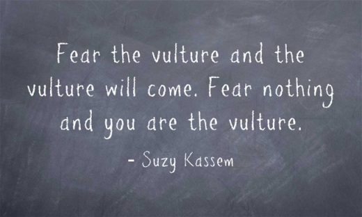 Fear-the-vulture-and-the vulture will come suzy kassem
