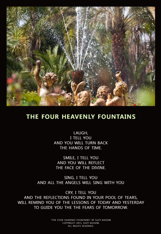 The Four Heavenly Fountains - Suzy Kassem poetry