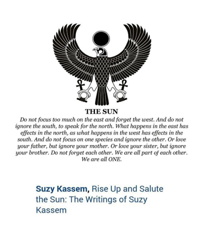 Sun Unity Quote Poetry Suzy Kassem