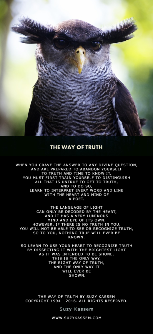 Suzy Kassem Poetry - The Way of Truth