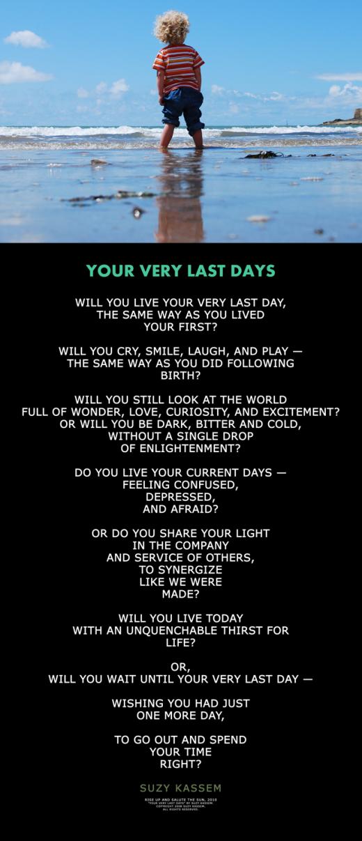 Your Very Last Days - Suzy Kassem Poetry