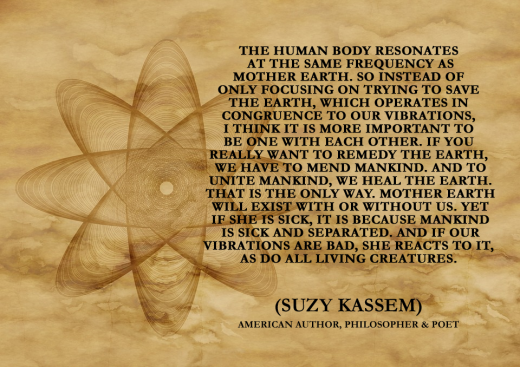 The human body resonates at the same frequency as mother earth. - Suzy Kassem