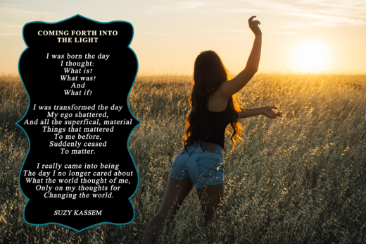 Suzy Kassem poetry - COMING FORTH INTO THE LIGHT