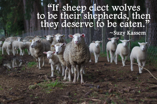 If sheep elect wolves